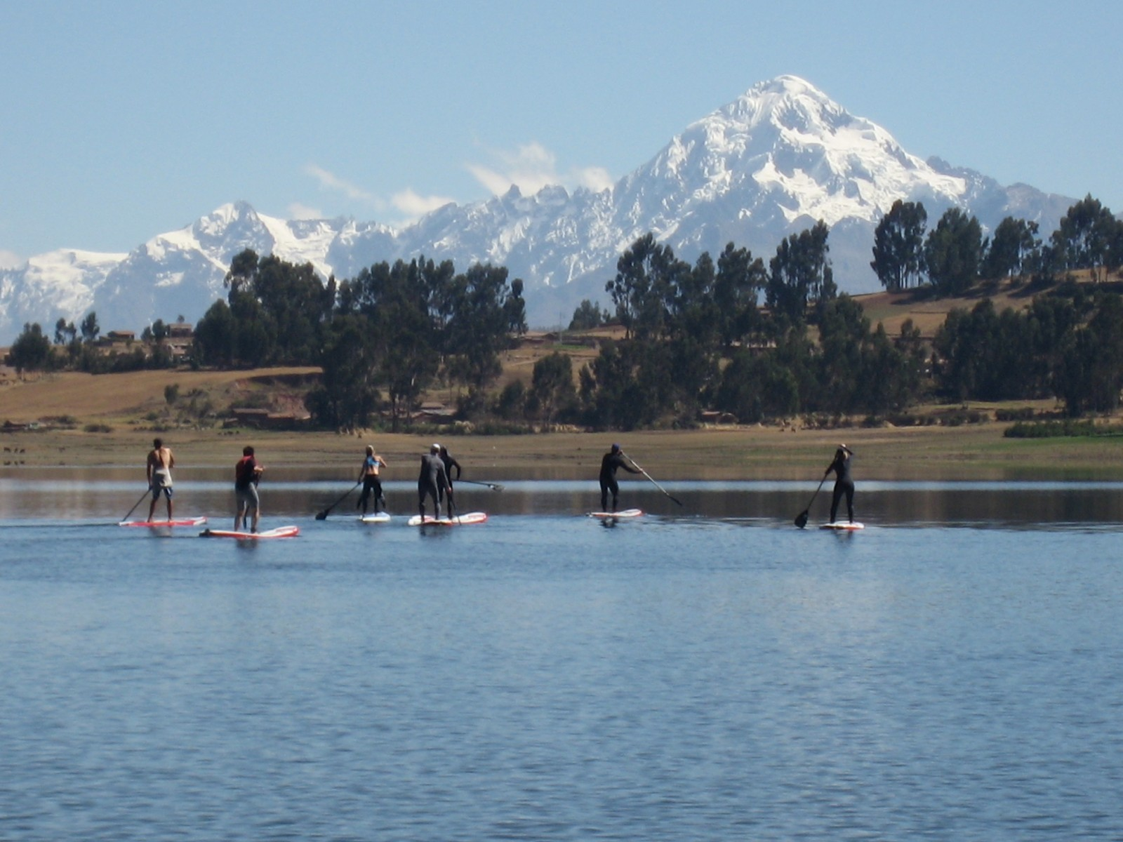 Paddle boarding, Puiray Lake,Peru, Supplier