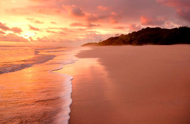 Beach sunset Costa Rica