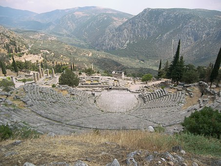 Theatre, Delphi, Greece, Pixabay.com