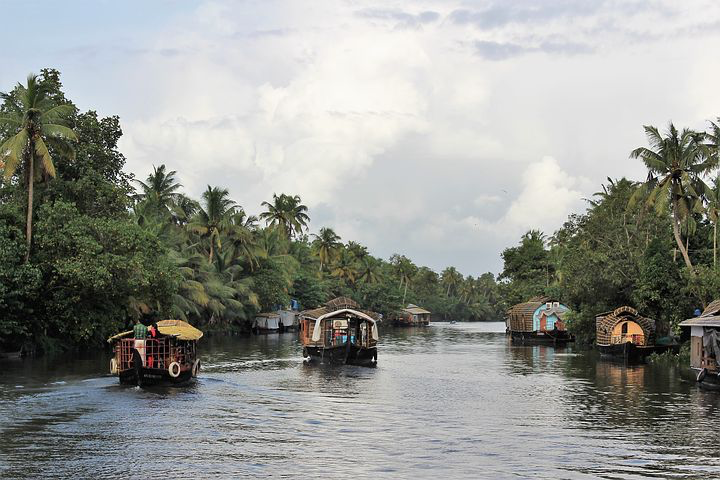 Kerala Backwaters, India, Pixabay.com